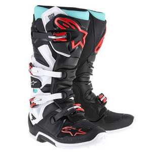 38-40005 | Alpinestars Tech 7 crossisaappaat musta/turkoosi/valk./pun. 47
