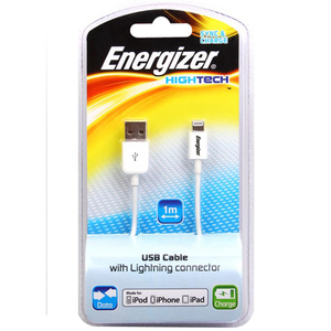 47-3858 | Energizer Hightech lisensoitu Apple Lightning datakaapeli, valkoinen