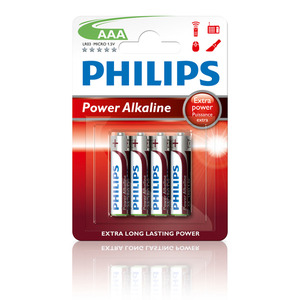 47-5875 | Philips Power Alkaline AAA (LR03) paristo 4kpl