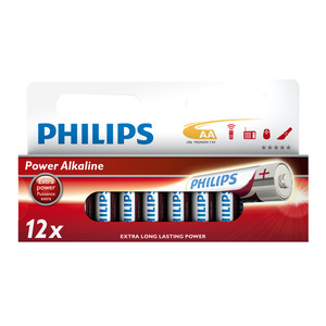 47-5878 | Philips Power Alkaline AA (LR6) paristo 12kpl