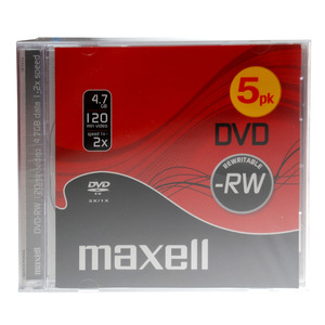 47-9085 | Maxell DVD-RW levy 2x 4,7GB JewelCase 5kpl