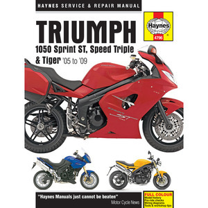 49-4796 | Korjausopas Triumph Sprint/Speed Triple/Tiger 1050 05-09 EN