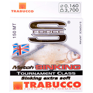 56-5623 | Trabucco S-Force Match Sinking monofiilisiima 0,18mm 150m