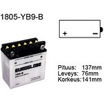 Euroglobe-MP-akku-12V-9Ah-YB9-B-P137xL76xK141mm