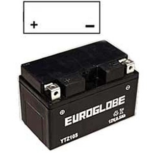 "90-0026 | Euroglobe MP-akku 12V 8,6Ah ""YTZ10S-BS"" (P150xL87xK93mm)"